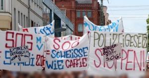 Demonstration in Schwerin gegen das SOG-MV