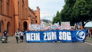 Demonstration in Schwerin gegen das SOG