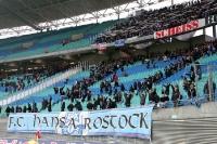 Fans des FC Hansa Rostock füllen den Block