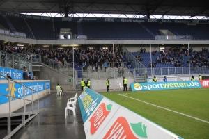 Gästeblock Rostock in Duisburg gegen Krefeld