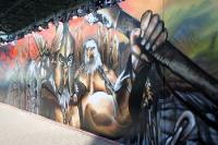 Graffiti im Rostocker Ostseestadion