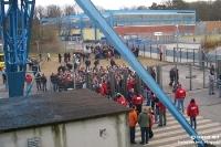 Eingangsbereich des Gästebereichs der DKB-Arena des FC Hansa Rostock