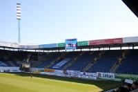 Leere Südtribüne der DKB-Arena des FC Hansa Rostock