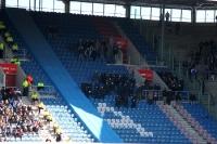 Polizei in der DKB-Arena beim Spiel gegen Aue