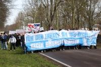 Rostocker Marsch zum Magdeburger Stadion