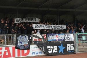 Spruchbänder FC Remscheid gegen Solingen