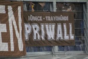 St. Pauli Fans Priwall Zaunfahne