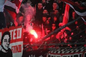 Rot Weiße Pyroshow Düsseldorf in Bochum 2017