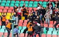 Auseinandersetzungen zwischen Zwickauer Fans und Ordnern
