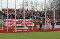 FSV Zwickau gegen RB Leipzig im Sportforum Sojus
