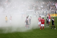 Mächtig Rauch im Zwickauer Block in Babelsberg