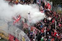 Rauch statt Choreographie im Zwickauer Fanblock
