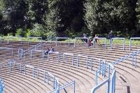 leere Ränge in einem Fußballstadion