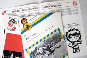 Alte Programmhefte von Erfurt und Lok Leipzig