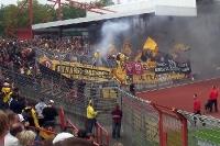 Dynamo Dresden Fans in Oberhausen