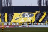 Choreographie der Ultras von Dynamo Dresden