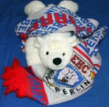 Plüsch-Eisbär mit Schal des EHC Eisbären Berlin
