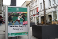 Werbung für den DFB-Futsal-Cup 2010 in Cottbus