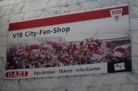 City-Fan-Shop des VfB Stuttgart in der Innenstadt