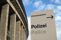 Polizei am Berliner Olympiastadion