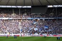 Kurve der Hertha-Fans im Berliner Olympiastadion