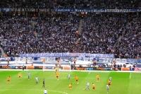 Spruchband der Fans von Hertha BSC