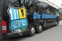 Mannschaftsbus des Chemnitzer FC