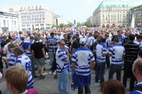 Fans des MSV Dusiburg in Berlin (DFB-Pokal 2011)
