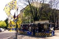 Fußball-Souvenierstand in Parma