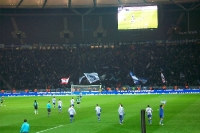 Hertha-Spieler jubeln nach dem 1:0 gegen Sporting
