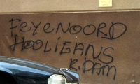 Feyenoord-Schriftzug an einer Hauswand