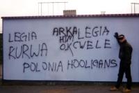 Schmierereien der Polonia Hooligans in Warschau