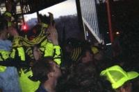 BVB-Fans auf der Südtribüne des Dortmunder Westfalenstadions Mitte der 90er Jahre