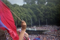 Fans des Wuppertaler SV im Stadion am Zoo, Anfang der 90er Jahre