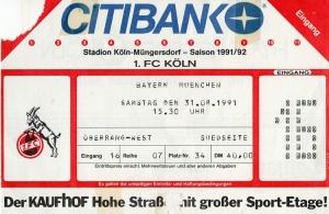 1. FC Köln vs. FC Bayern München (1991)