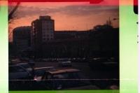 Estadio Santiago Bernabéu von Real Madrid im Abendlicht, 1994 (Pocketfilm)