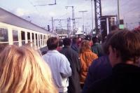 Ankunft eines Sonderzugs, Anfang der 90er Jahre