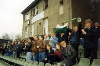 Dammsitz im Alfred-Kunze-Sportpark in Leipzig-Leutzsch, 1994