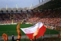Bayer 04 Leverkusen - FC Bayern München, Anfang 90er, vom H-Block aus