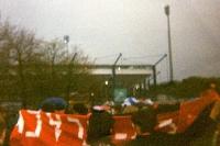 Fans von Bayer 04 Leverkusen am Frankenstadion