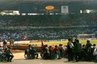 Choreographie der Fans des 1. FC Köln im Müngersdorfer Stadion, Mitte 90er Jahre
