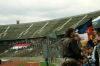 Union-Fans beim Spiel Hertha BSC - Tebe (als Protest), 1993/94
