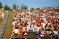 Bayer-04-Fans beim VfB Leipzig im Zentralstadion, 1994