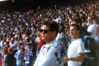 Schalker Mob im Müngersdorfer Stadion in Köln, 1993
