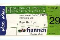 Eintrittskarte Borussia Mönchengladbach - Bayer 05 Uerdingen
