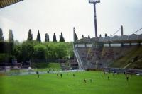 Ulrich-Haberland-Stadion bei einem Nachwuchsspiel