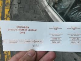 Eintrittskarte auf den Malediven