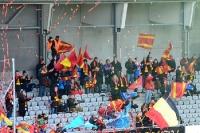 Fans des FC Nordsaelland in Horsens