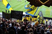 Im Fanblock: Bröndby IF vs. Odense BK, Juli 2012