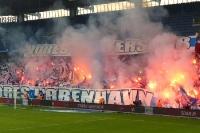 Pyrotechnik beim Duell Bröndby IF vs. FC Kopenhagen